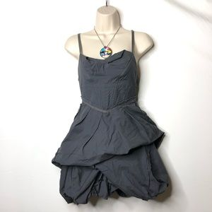All Saints Pirro grey mini parachute draped dress